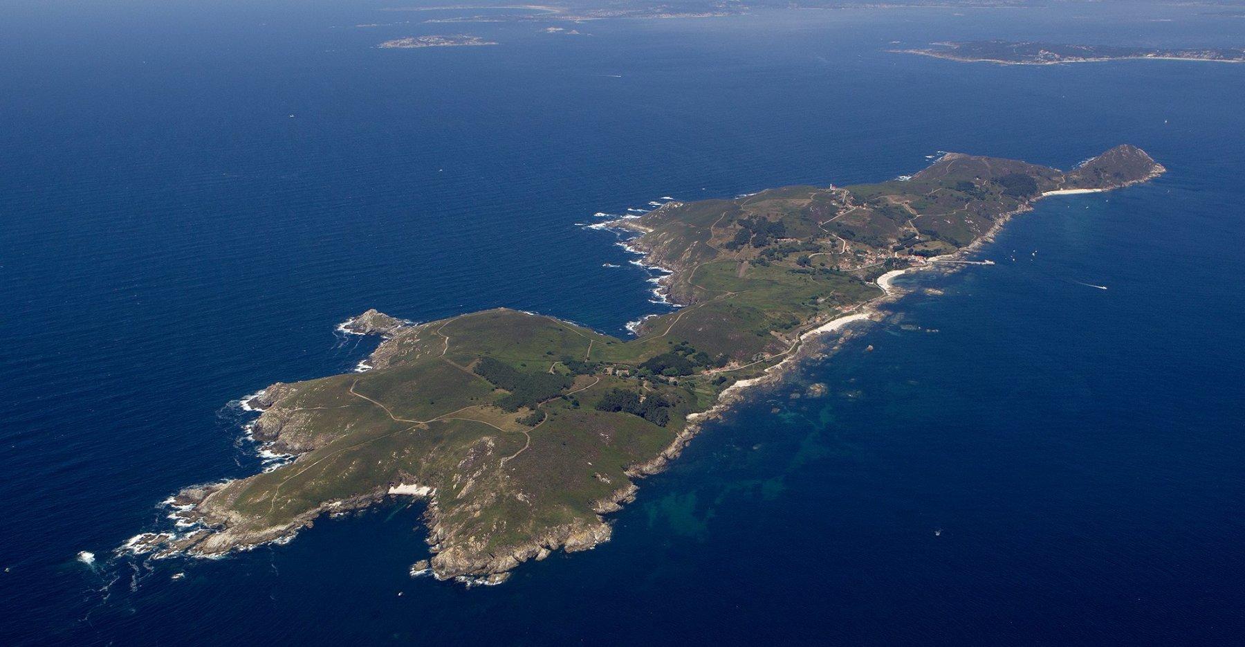 Isla De Ons Mapa.Playas Isla De Ons